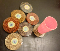 Orgone Plates estimated 95mm x 10mm ; 150gm
