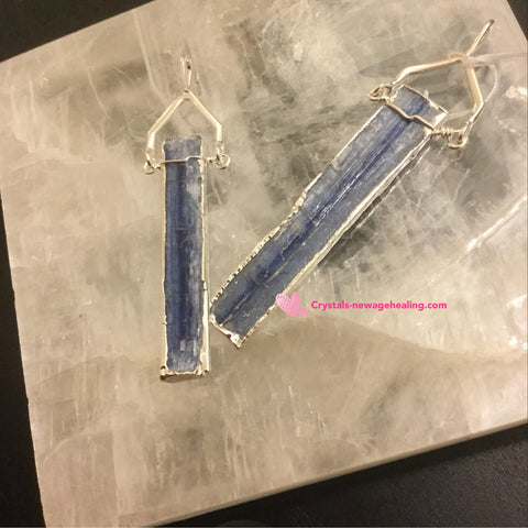 Blue Kyanite pendant silver plated