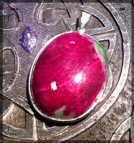 Pendant- Ruby Zoisite - High Grade * large