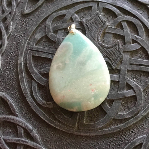 Pendant- Amazonite - 35x50mm; 18gm