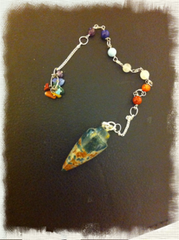 Pendulum- Bloodstone - mixed color -7 chakra