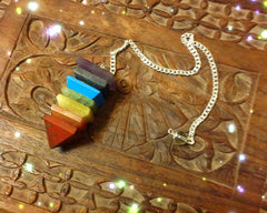 Pendulum- 7 Layers of semi precious stone Pyramid