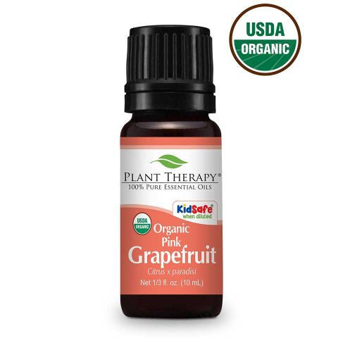 Plant Therapy-	 Pink Grapefruit Organic Essential Oil 10ml