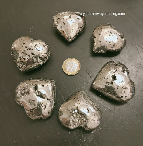 Pyrite Heart shaped * AA Grade