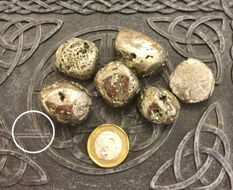 Pyrite Tumbled large per piece estimated 20~40gm * AA grade