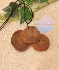 Raja Kayu disc adjustable robe necklace estimated 35~40mm x 5mm; 5gm