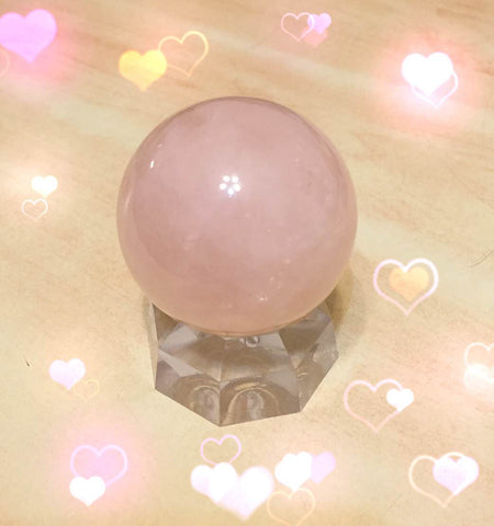 Rose quartz crystal ball / sphere