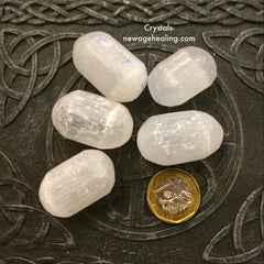 Crystal Selenite Large Tumbled estimated 20gm~40gm per piece