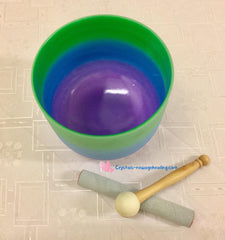 "Singing Bowls- Green/ Blue/ Purple 8""  for Heart Chakra"