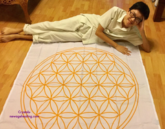 Flower of Life grid cloth large estimated 130 x 132cm ** RESERVE