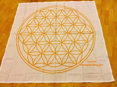 Flower of Life grid cloth / mat large