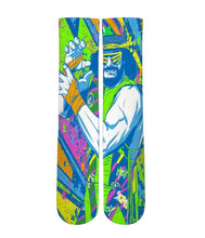 Load image into Gallery viewer, Macho Man retro Elite sublimated socks - DopeSoxOfficial