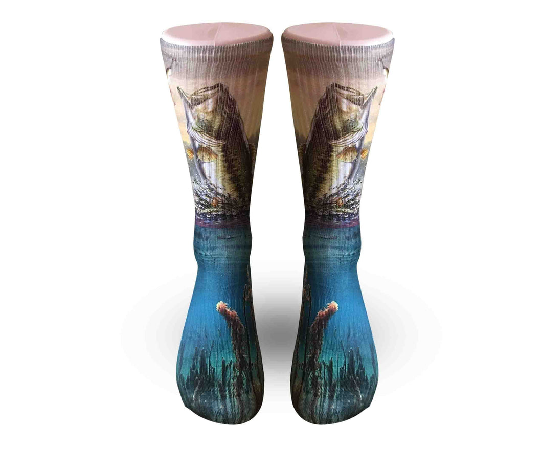 Bass Fishing Socks-Men Women and kid sizes-FREE SHIPPING - DopeSoxOfficial