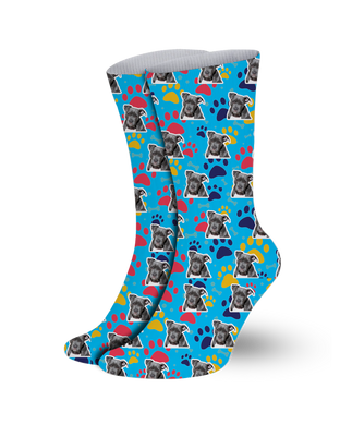 Pet socks-print your pet- paw pattern