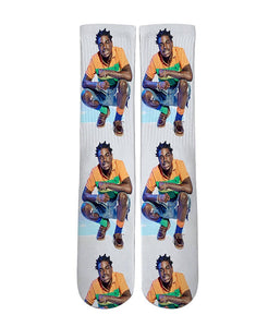 Kodak Black Elite crew all over printed socks - DopeSoxOfficial