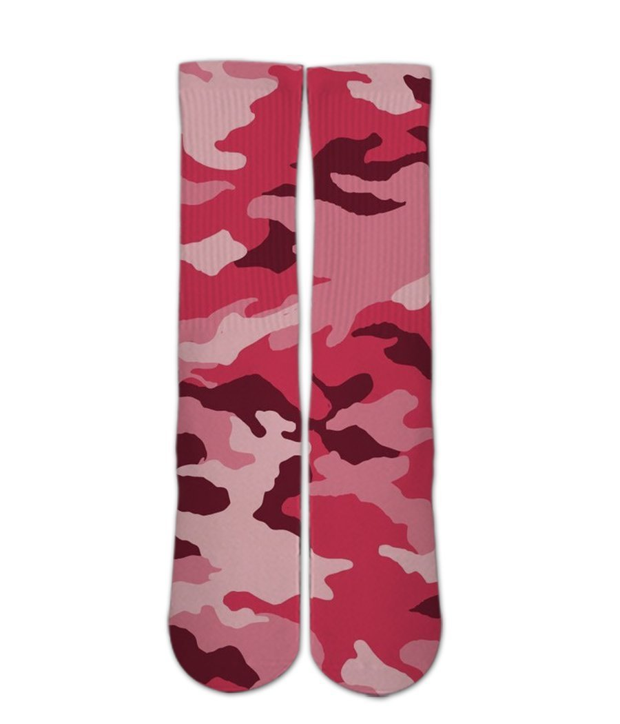 Pink Army Camo pattern 3d printed socks - DopeSoxOfficial
