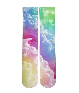 Rainbow Clouds customized elite socks - DopeSoxOfficial