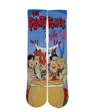 The Flinstones graphic printed crew socks - DopeSoxOfficial