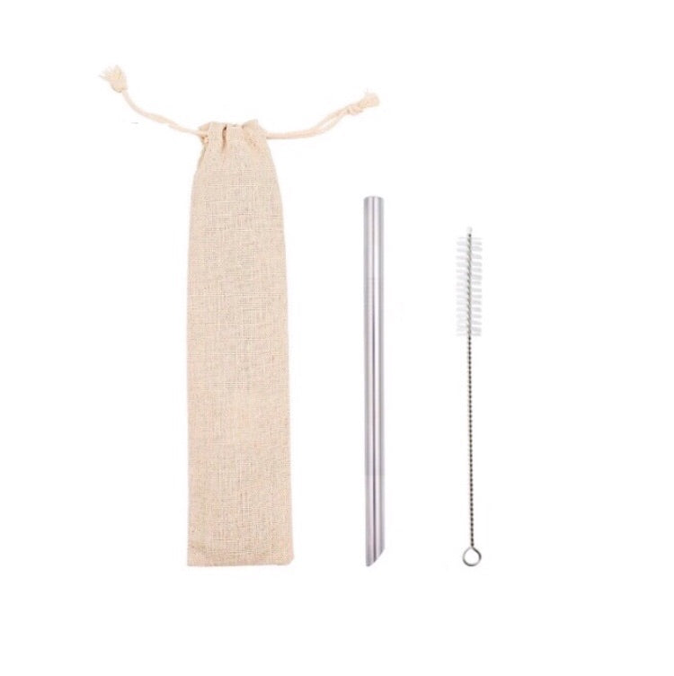 Pointed BOBA Straw + Brush + Pouch - BobaStrawStore