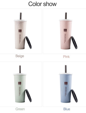 Eco Wheat Straw Reusable Boba Cup - BobaStrawStore