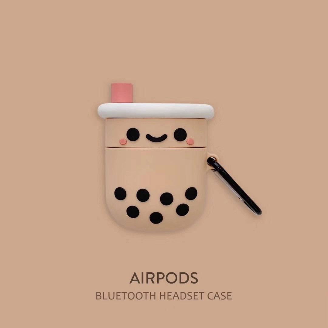 Smiley Boba Airpod Case - BobaStrawStore