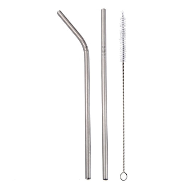 Reusable Straws w/ Cleaner Brush - BobaStrawStore