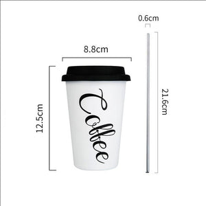 450ML Stainless Steel Cups with Lid & Straws - BobaStrawStore