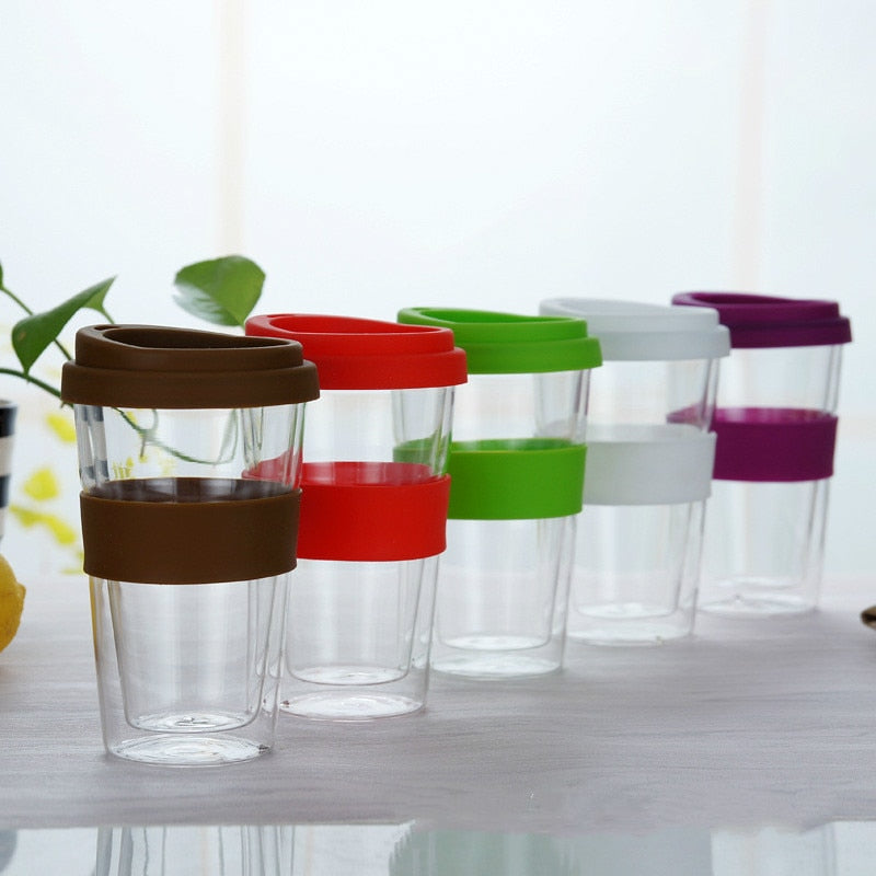 400ml Reusable Transparent Coffee Cup - BobaStrawStore