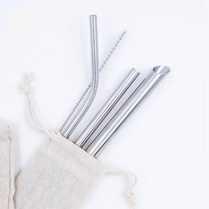 x 3 Straws + FREE cleaner brush + FREE pouch bag - BobaStrawStore