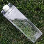 Plain Milk Carton Water Bottle - Clear - BobaStrawStore