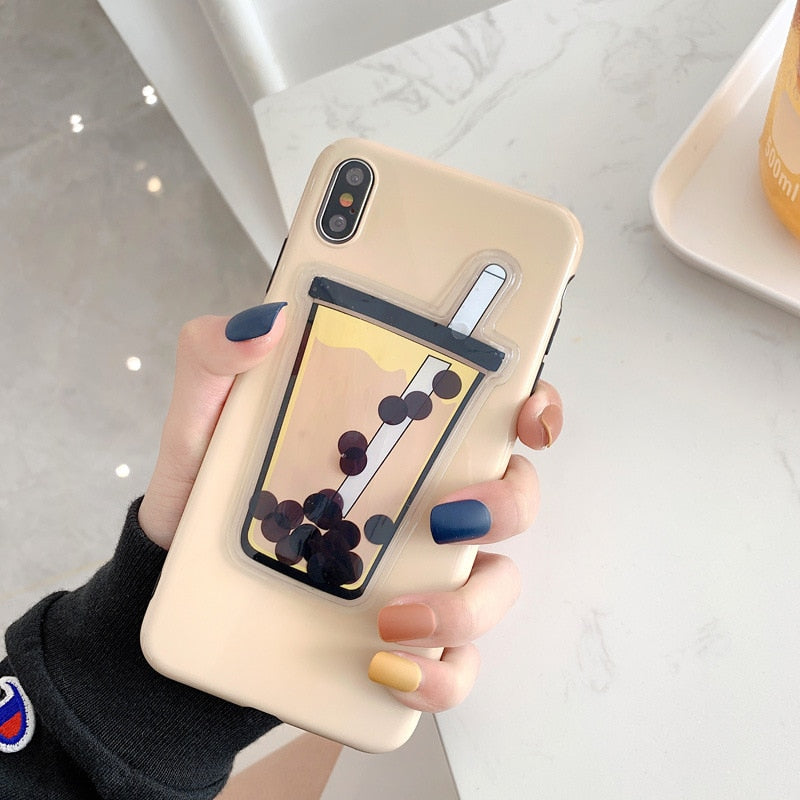 Magical Floating Boba Phone Case - BobaStrawStore