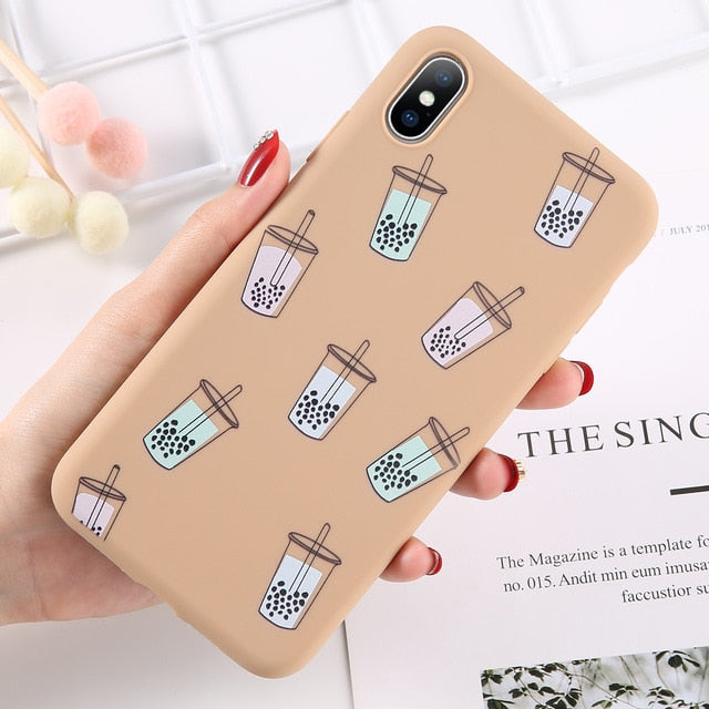Mini Colourful Boba Phone Case - BobaStrawStore