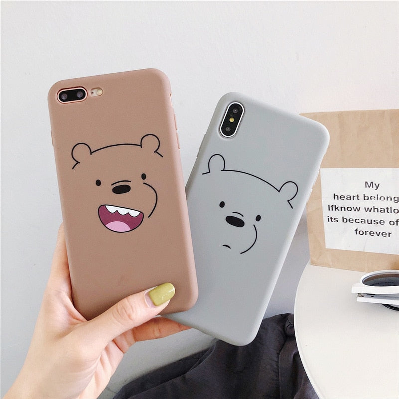 Bear Iphone Case - BobaStrawStore