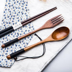 Reusable Wooden Cutlery Set - BobaStrawStore
