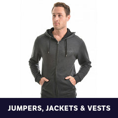 Mens Jumpers, Jackets & Vests