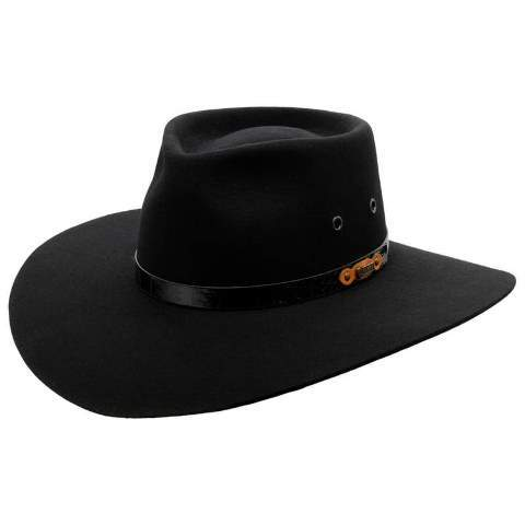 Akubra Territory Black - Gympie Saddleworld & Country Clothing