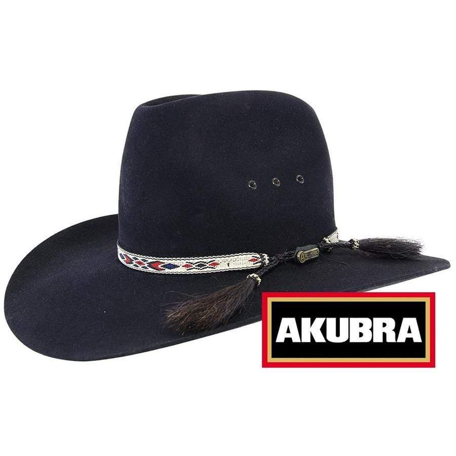 Akubra Stony Creek Black - Gympie Saddleworld & Country Clothing