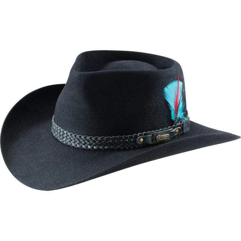 Akubra Snowy River Black - Gympie Saddleworld & Country Clothing