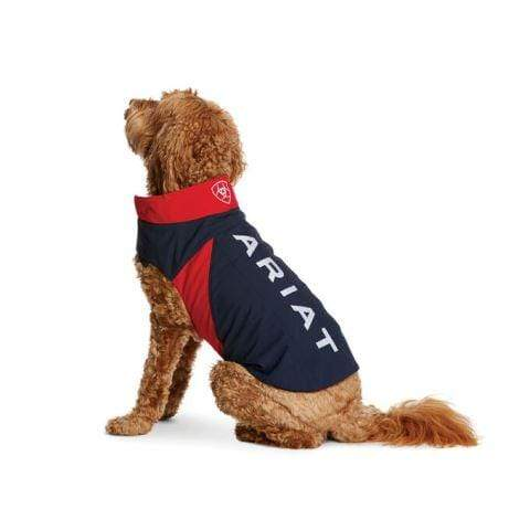 Ariat Dog Coats Lge 19in 48cm Ariat Dog Coat Navy, Red and White 10029168