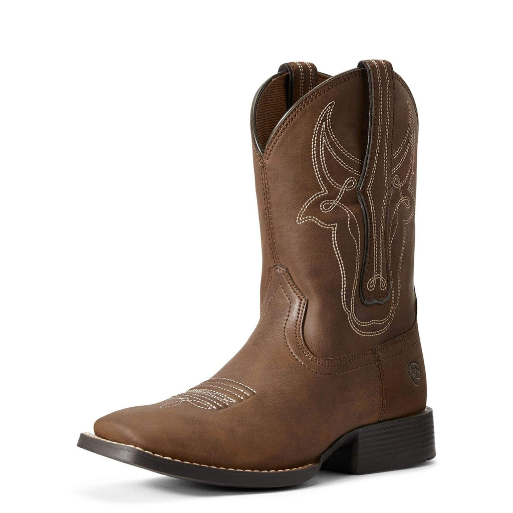 Ariat Kids Bully Bully Brahma Brown Boots 10029603 - Gympie Saddleworld & Country Clothing