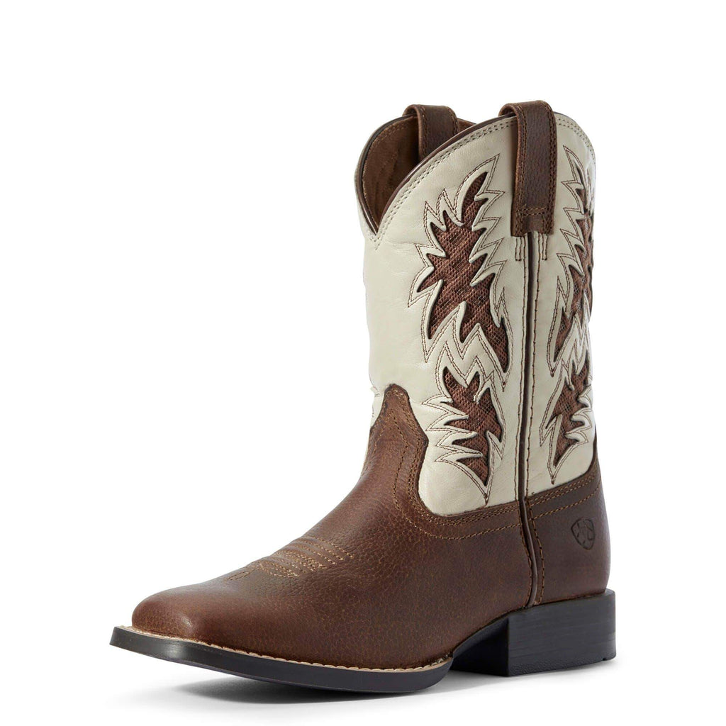 Ariat Kids Boots 1 / Cognac Candy / Cantle Cream Ariat Kids Cowboy Ventekk Boots Cognac Cancy / Cantle Cream