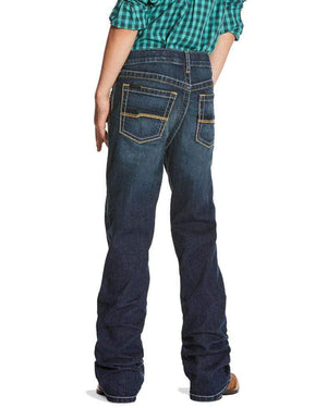 Ariat Kids Jeans Ariat Boys Jeans B4 Racer Relaxed Stretch Boot Cut Jeans 10025749