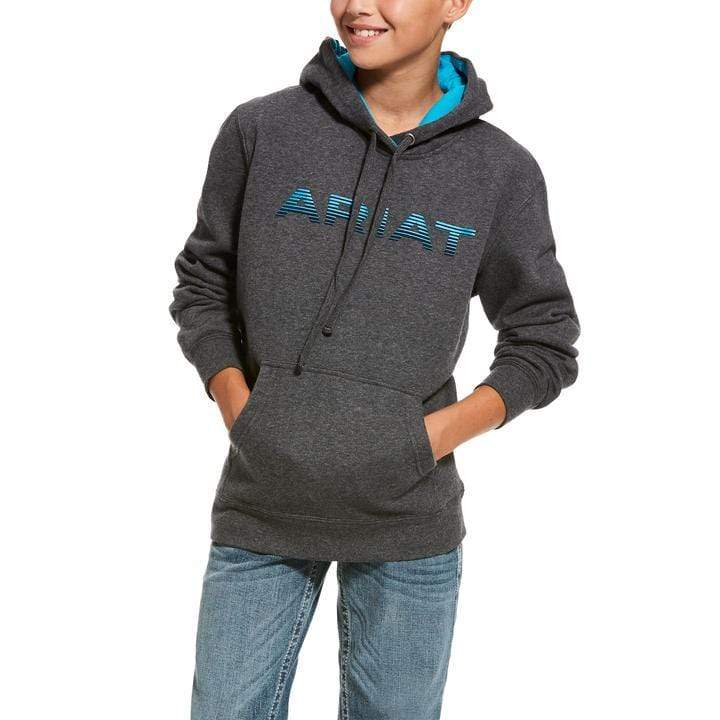 Ariat Youth Graphic Charcoal Hoodie 10027950 - Gympie Saddleworld & Country Clothing