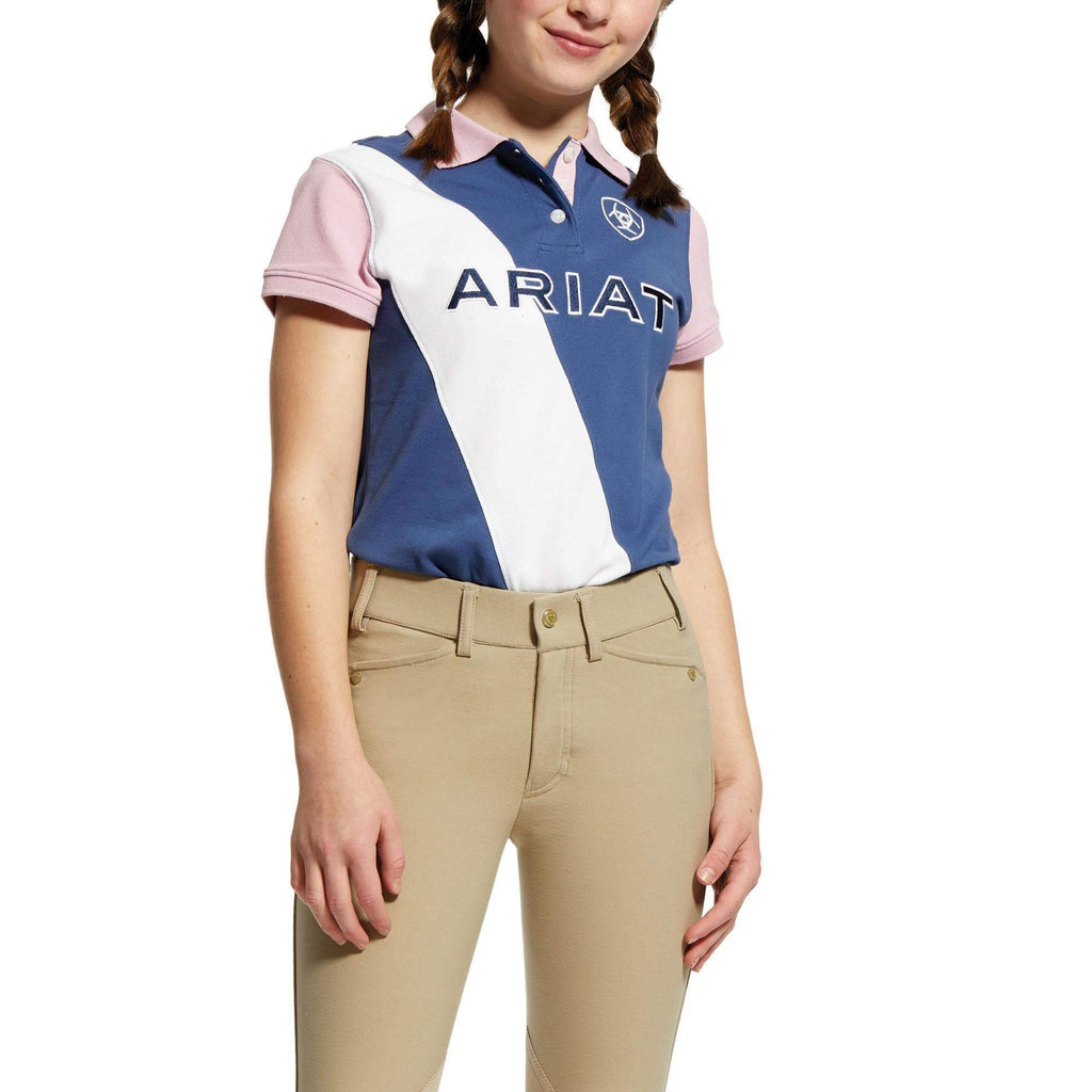 Ariat Kids Polos Ariat Girls Taryn Polo Indigo Fade (10025565)