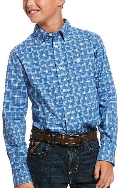 Ariat Boys Pro Underlin Long Sleeve Shirt Bright Cobalt 10028152 - Gympie Saddleworld & Country Clothing