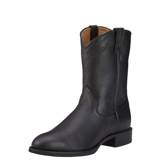 Ariat Mens Boots 12 / Black Ariat Mens Heritage Roper Boots Black (10002280)