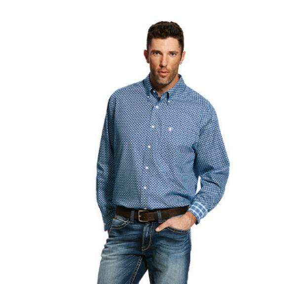 Ariat Mens Wrinkle Free Kampsen Shirt - Gympie Saddleworld & Country Clothing