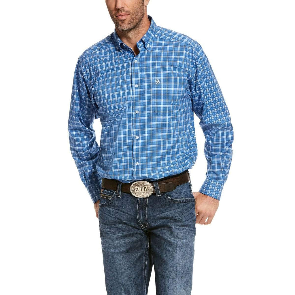 Ariat Mens Pro Underline Stretch Classic Shirt Bright Cobalt 10028210 - Gympie Saddleworld & Country Clothing