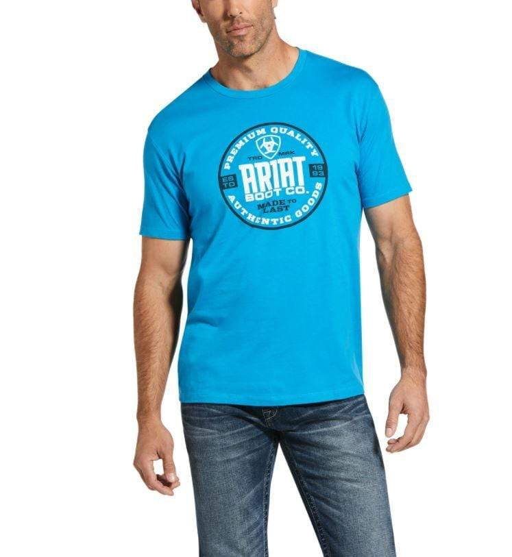 Ariat Mens Circle T-Shirt Turquoise 10033353 - Gympie Saddleworld & Country Clothing
