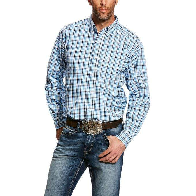 MEN'S Ealey LS Perf Shirt White - Gympie Saddleworld & Country Clothing